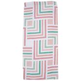 Pink & Green Modern Tile Kitchen Towel