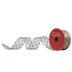 Gold & Navy Polka Dot Wired Edge Sheer Ribbon - 1 1/2