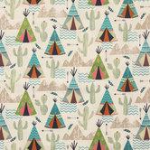 Teepee & Cactus Apparel Fabric