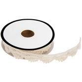 Ivory Crochet Scallop Trim