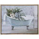 Floral Bathtub Wood Wall Decor