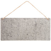Horizontal Galvanized Metal Wall Decor