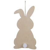 Bunny Silhouette Wood Wall Decor