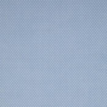 Chambray Blue Mini Dot Cotton Calico Fabric