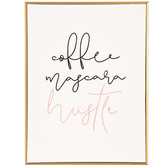 Coffee Mascara Hustle Wood Wall Decor
