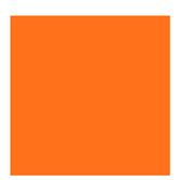 "Orange Smooth Cardstock Paper - 12"" x 12"""