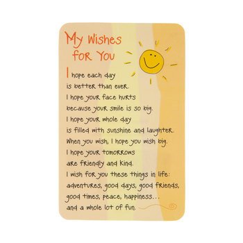My Wishes For You Wallet Card