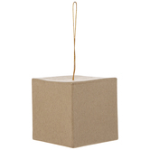 Paper Mache Cube Ornament