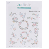Fanciful Florals Embroidery Transfer Sheet