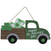 Happy St. Patrick's Day Truck Wood Wall Decor