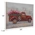 Truck Hauling Flowers Canvas Wall Decor
