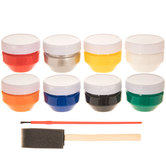 Derby Car Acrylic Paint Set - 10 Pieces