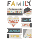 Happy Family 3D Stickers