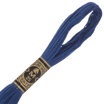 824 Very Dark Blue DMC Cotton Embroidery Floss