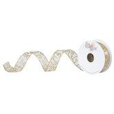 "Glitter Swirl Wired Edge Sheer Ribbon - 7/8"""