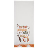 But First Pumpkin Spice Latte Kitchen Towel