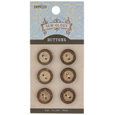 Coconut Shell Round Buttons - 14mm