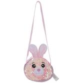 Pink Bunny Flip Sequin Pouch