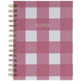 Pink & White Buffalo Check Journal