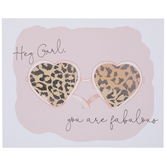 Hey Girl You Are Fabulous Leopard Wood Wall Decor