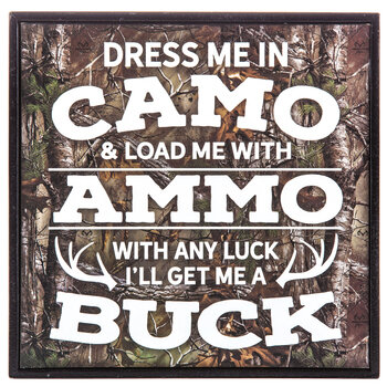 Dress Me In Camo Wood Decor