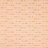 Blush & Gold Arrow Apparel Fabric