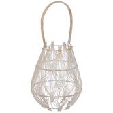 Woven Wood & Metal Lantern