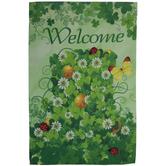 Welcome Shamrocks Garden Flag