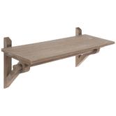 Brown Rod Wood Wall Shelf