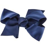Navy Grosgrain Bow Hair Clip