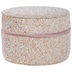 Pink Glitter Round Accessory Case