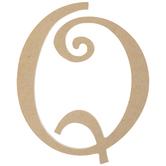 """Curly-Q Wood Letter Q - 8"""""""