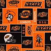Oklahoma State Block Collegiate Fleece Fabric