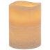 Tan Layered LED Pillar Candle - 3