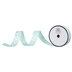 Aqua & White Polka Dot Single-Face Satin Ribbon - 5/8