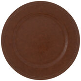 Light Brown Faux Leather Plate Charger