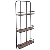 Three-Tiered Modern Metal Wall Shelf