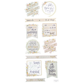 Faith Phrases Floral Stickers