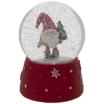 Santa Gnome Snow Globe