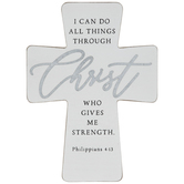 Philippians 4:13 Wood Wall Cross