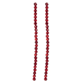 Red Glass Bead Strand