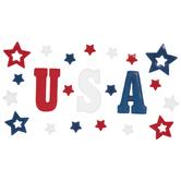 USA Gel Window Clings