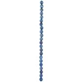 Blue Faceted Round Quartz Bead Strand