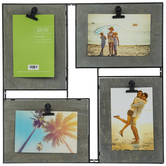 Gray Metal Wire Clip Collage Wall Frame