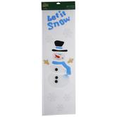 Let It Snow Snowman Gel Window Clings