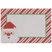 Red & White Striped Santa Adhesive Gift Tags