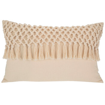 Natural Macrame Pillow Cover