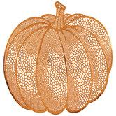 Orange Metallic Cutout Pumpkin Placemat