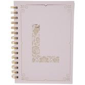 Pink & Gold Foil Letter Journal - L