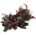 Pinecone, Ornament & Berry Candle Holder Centerpiece